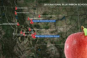 MT Blue Ribbon Schools Map
