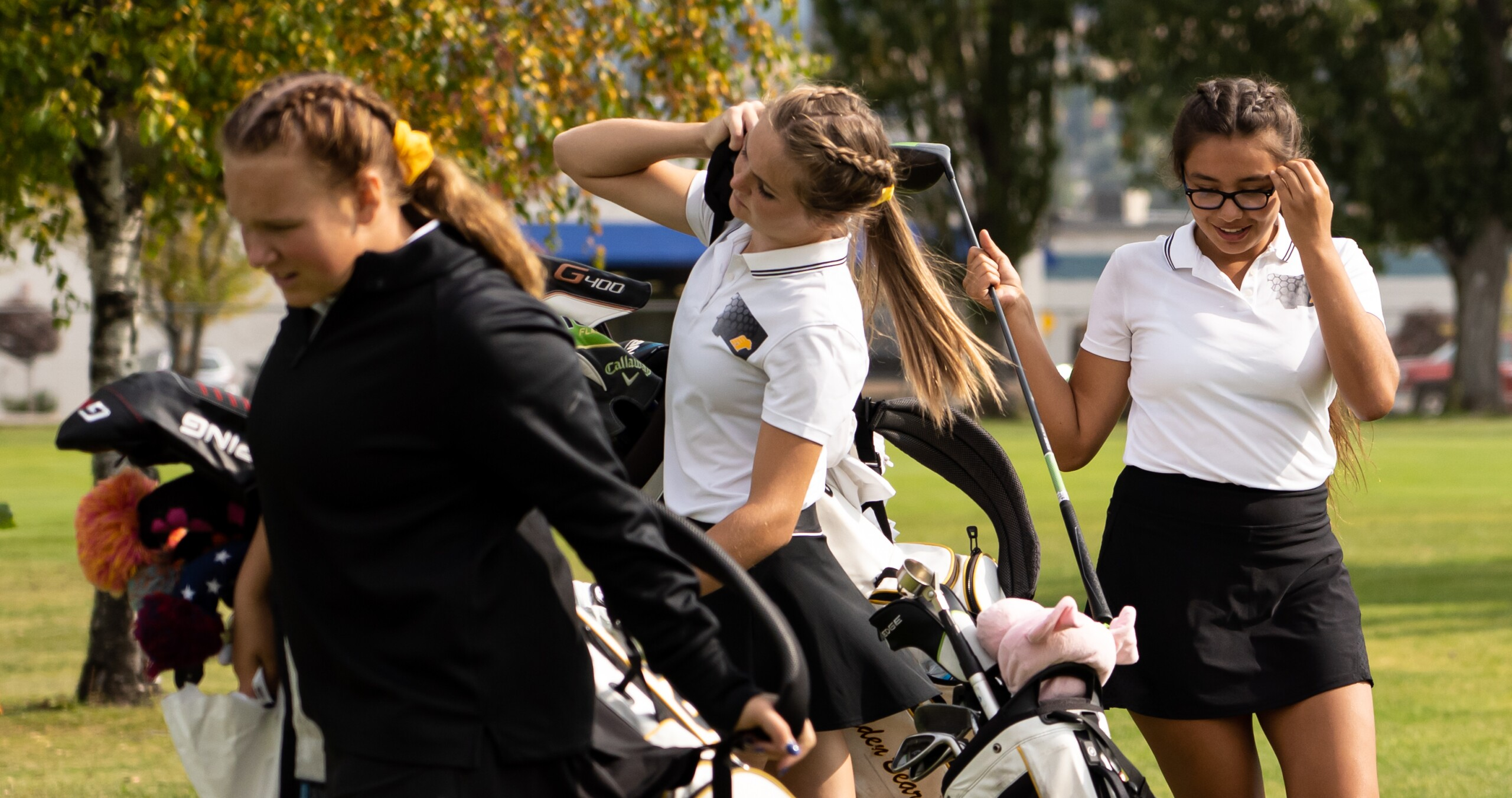 Billings West's Megan Voegele, Kadence Fischer and Barbara McGregor.jpg