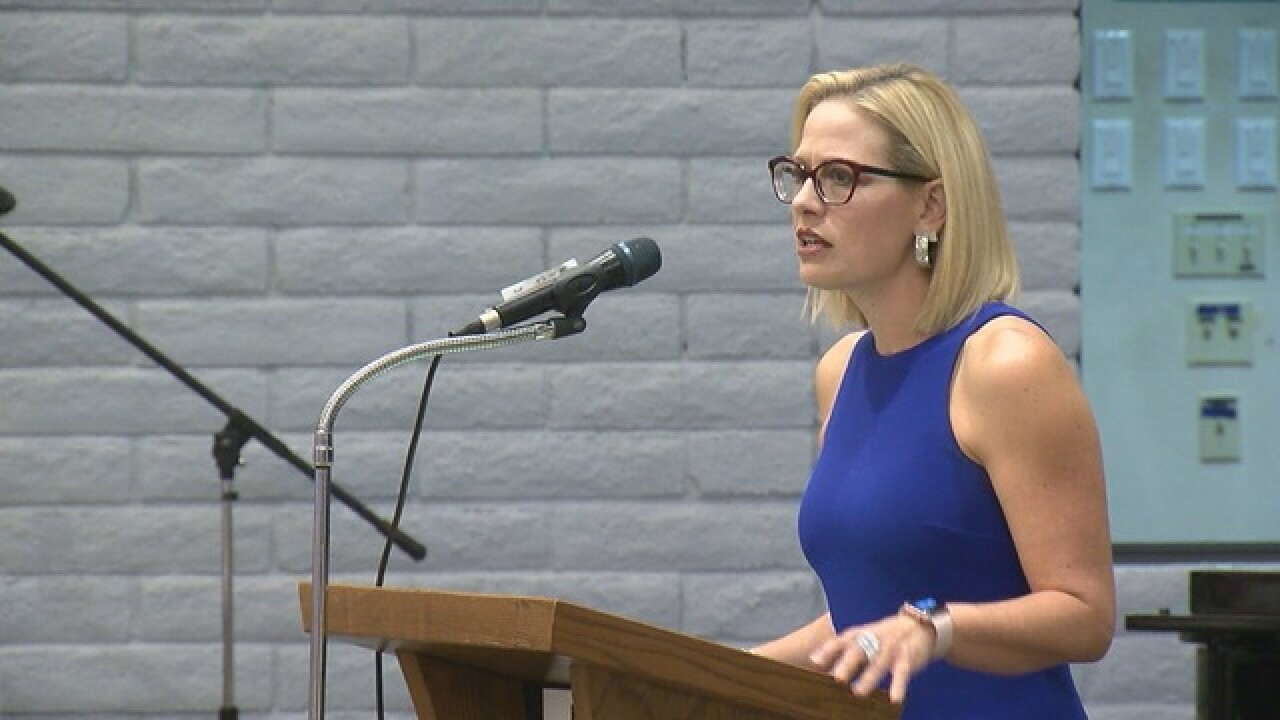 Sinema inches ahead of McSally in race for Senate as counting continues