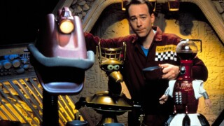MYSTERY SCIENCE THEATER 3000, Gypsy, Joel Hodgson, Tom Servo, 1988-1999. (c) Comedy Central/ Courtes