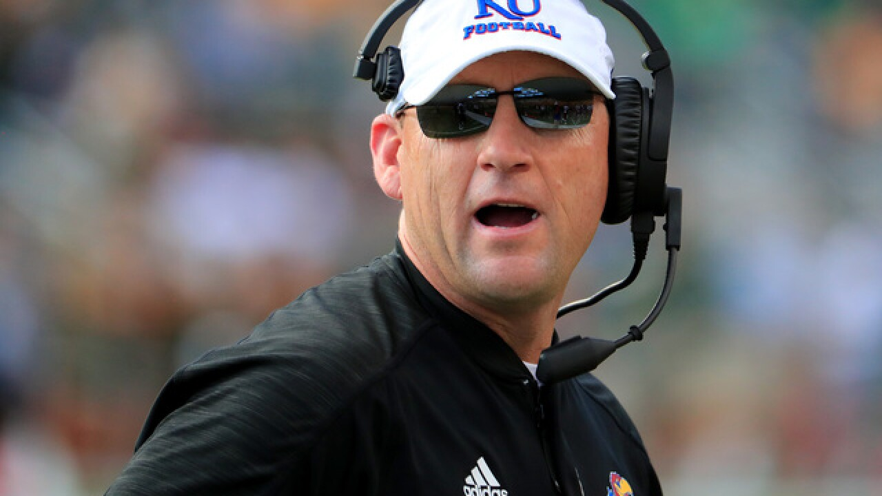 Kansas announces football coach David Beaty won't return in 2019