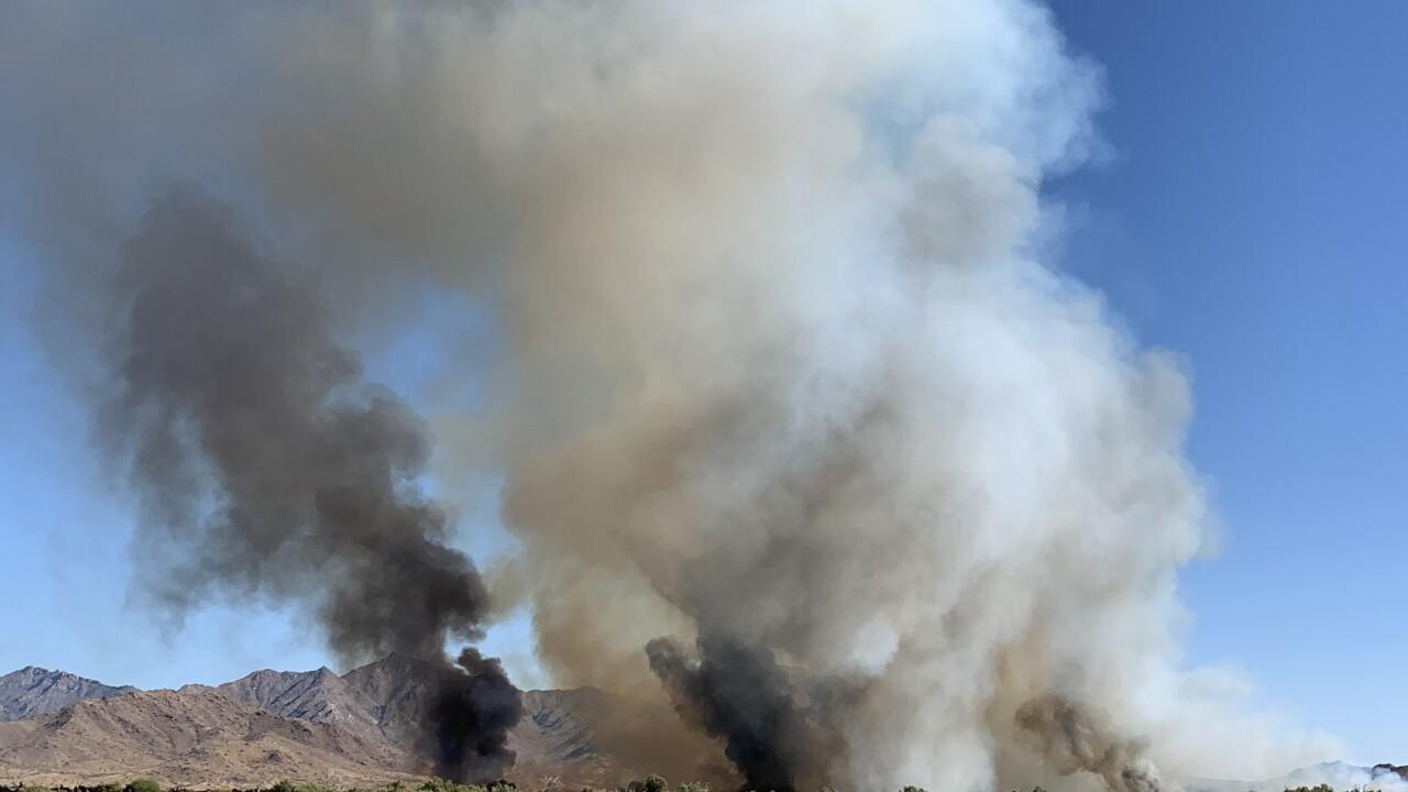 KNXV Avondale Gila River Bottom Brush Fire 7-4-19