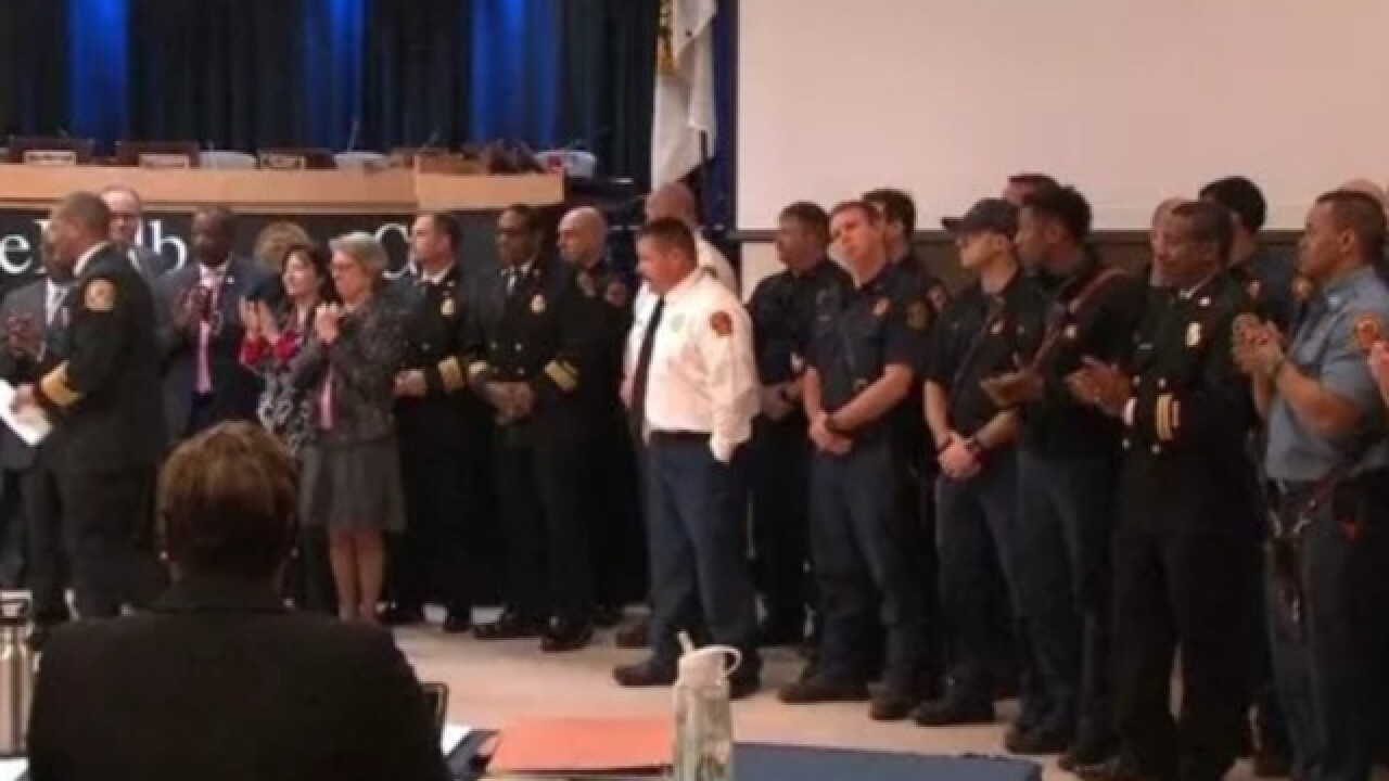 Georgia firefighters honored for saving more than 100 from