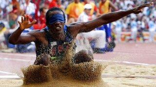 Lex Gillette long jump