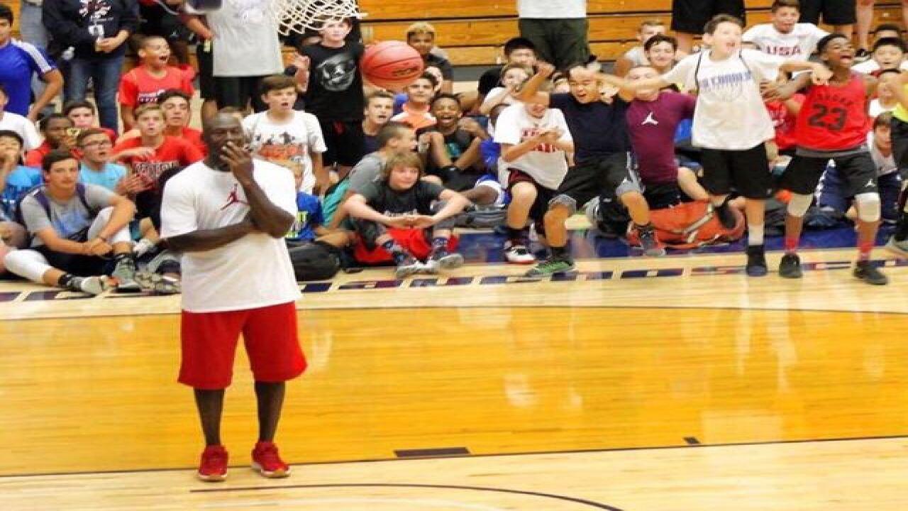 13-year-old beats Michael Jordan at his own game