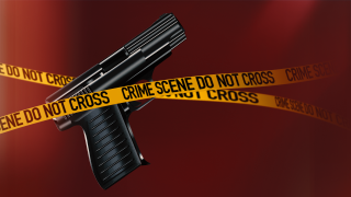Gun Crime Scene Tape
