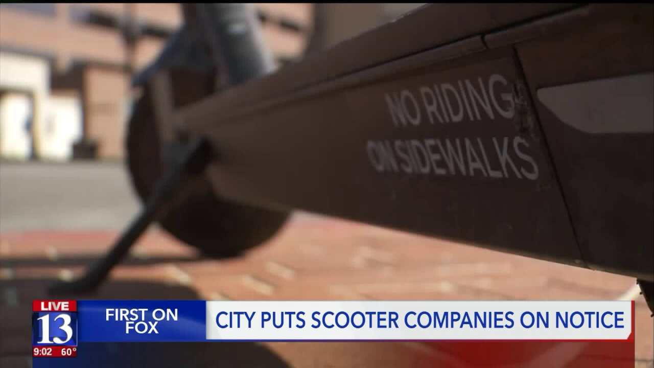 SLC government addresses increasing problem: electric scooters onsidewalks