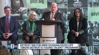 Detroit 2020: Detroit Mayor Mike Duggan kicks off 'Grow Detroit's Young Talent' program