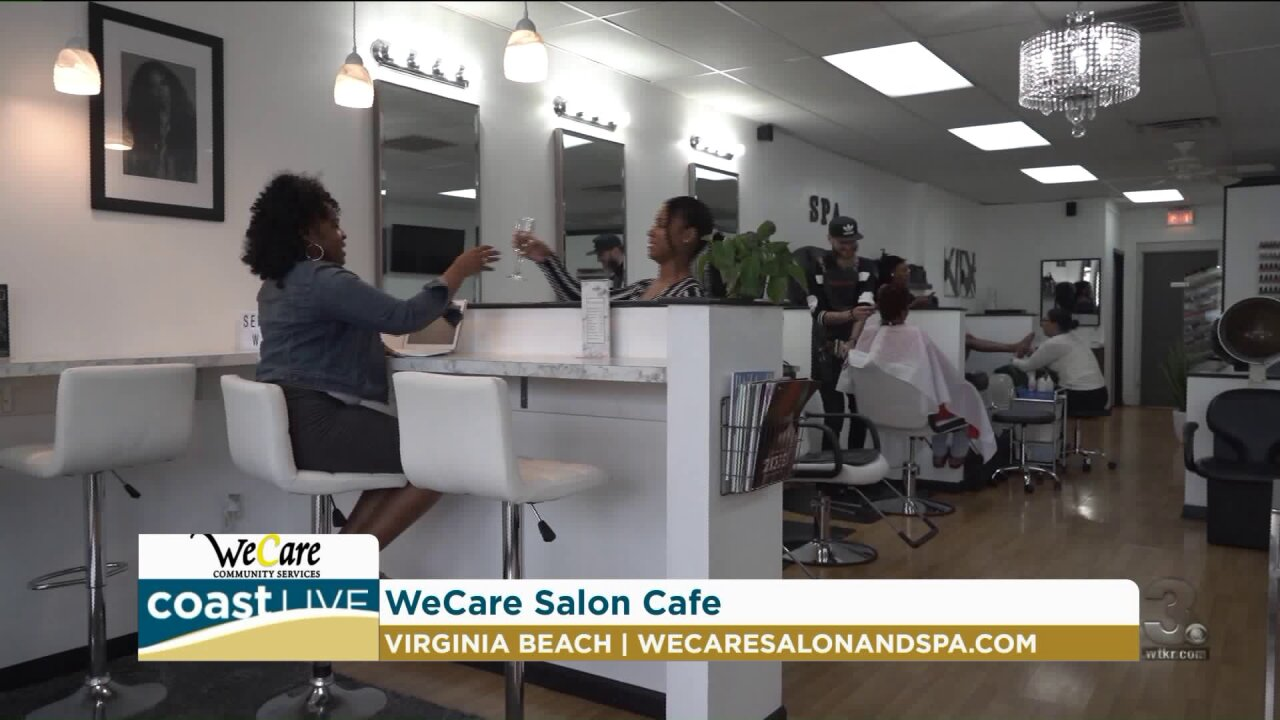 Previewing WeCare's new salon cafe and job fair on CoastLive
