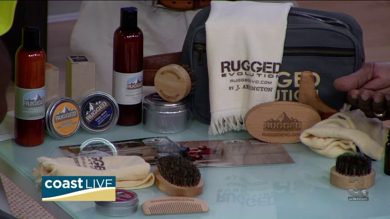 Learning about natural beard care products with the folks from Rugged Evolution on CoastLive