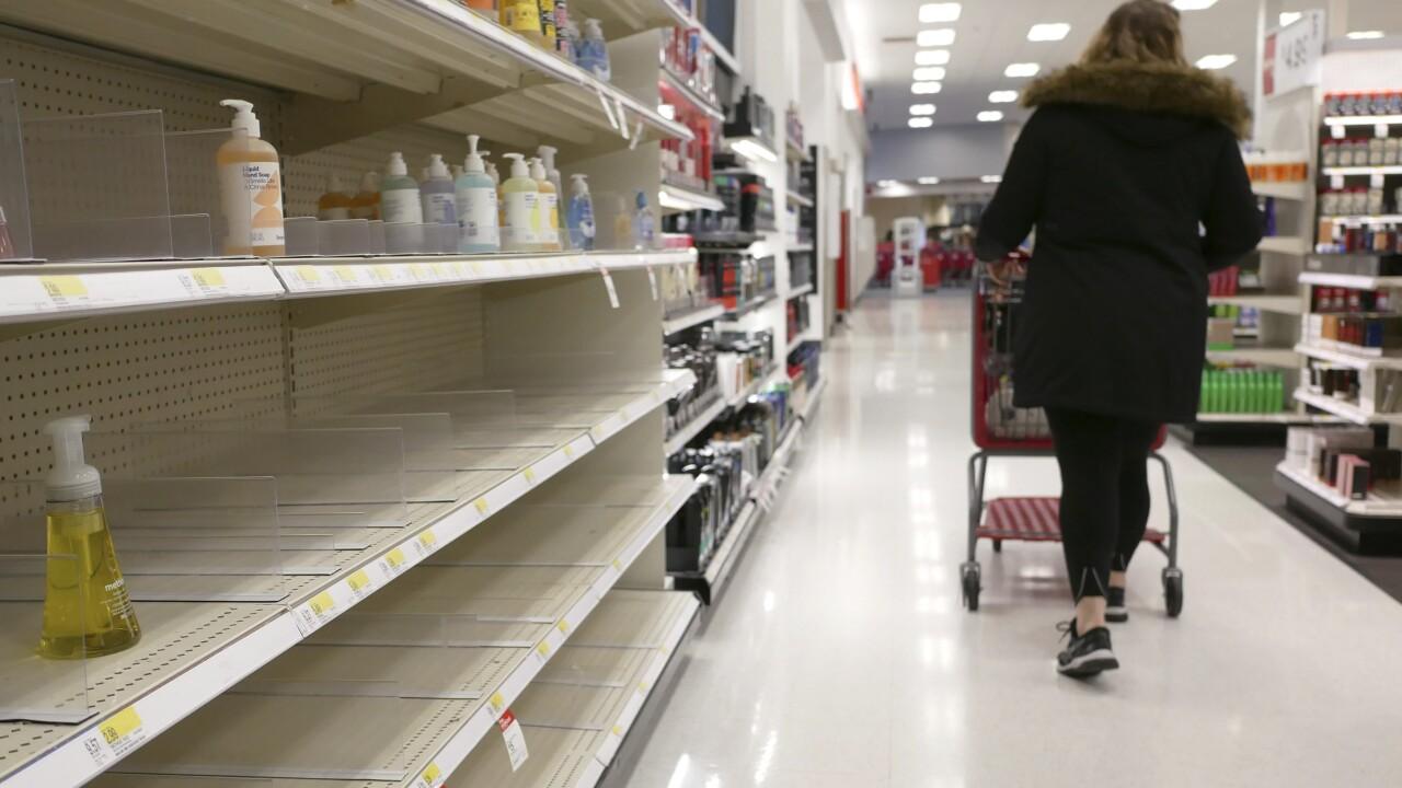 Virus Outbreak Hand Sanitizer Shortage