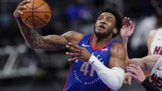 Saddiq Bey Heat Pistons Basketball