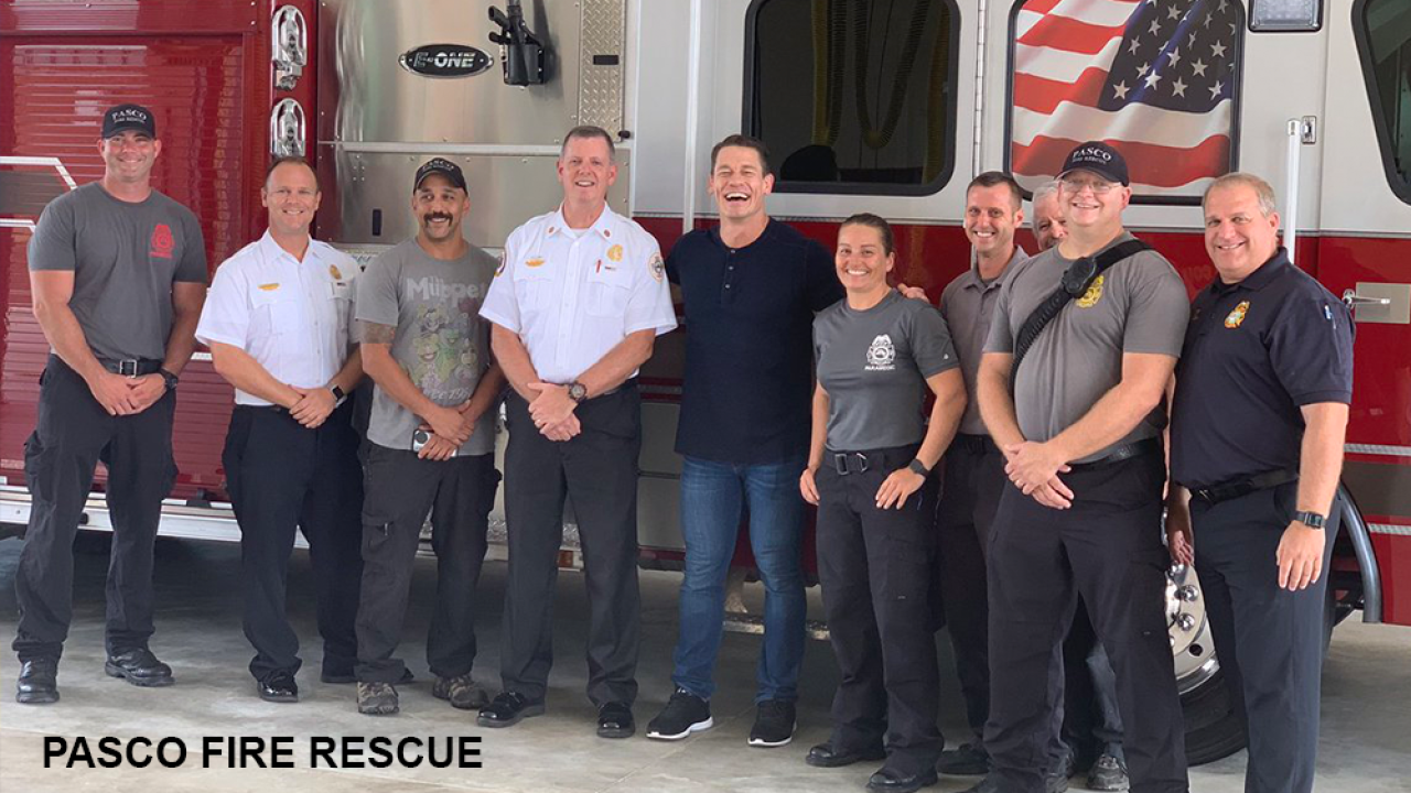 Wwe Wrestler John Cena Spotted Hanging Out At Pasco Fire