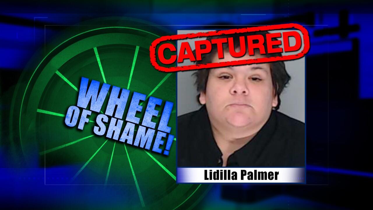 Wheel Of Shame Fugitive Arrest: Lidilla Palmer