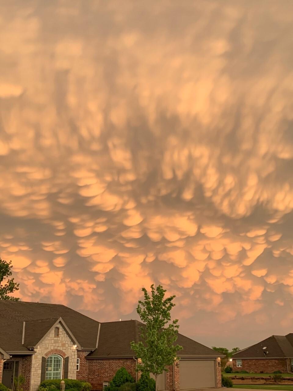 Mammatus Clouds in Bartlesville