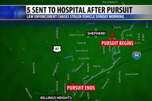 Early morning chase ends in crash in Heights