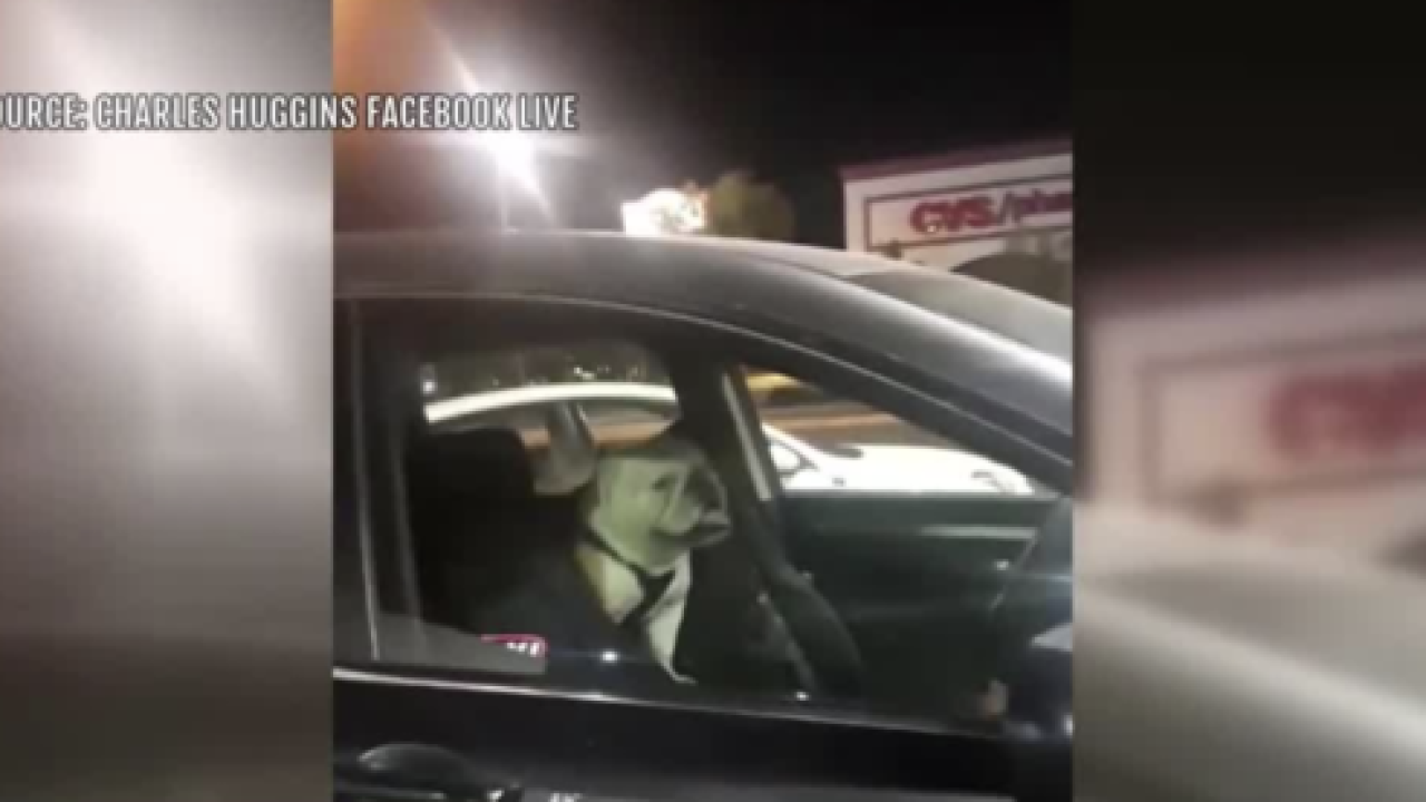 Las Vegas man smashes car window at gym to save dog