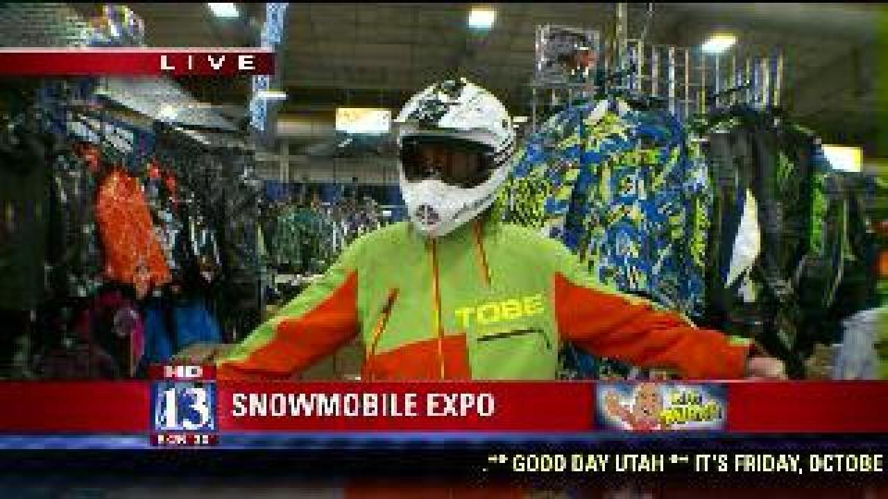 Snowmobile expo features winter fashions
