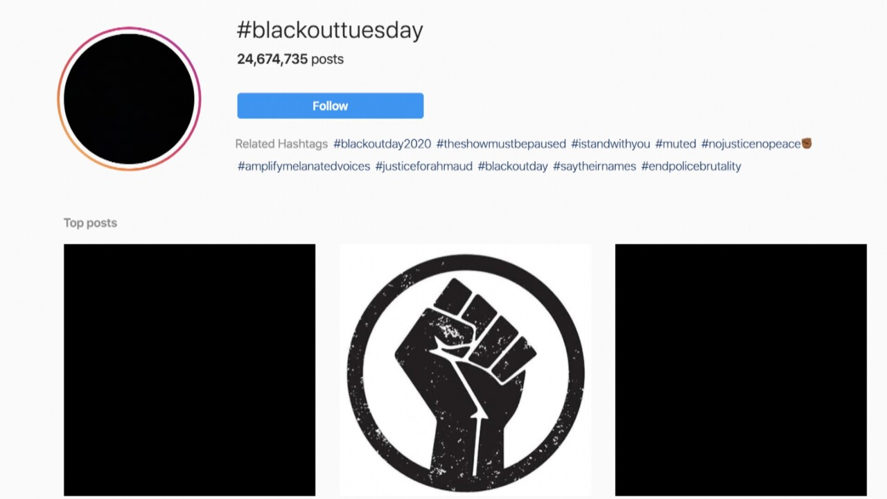 #BlackoutTuesday floods the internet