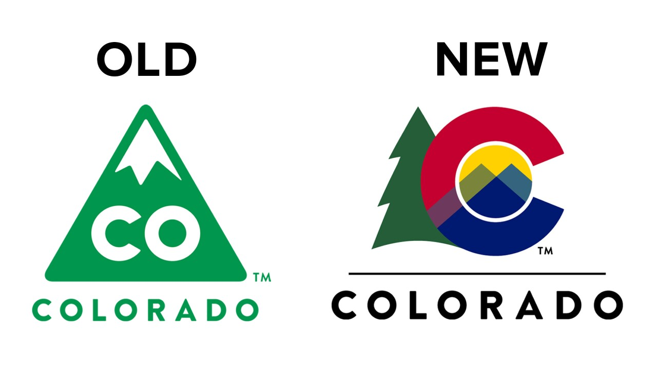 Colorado Gov  Jared Polis reveals new state logo featuring 'C' from