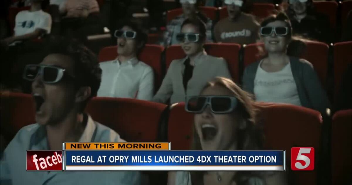 Regal at Opry Mills is now showing movies in 4DX