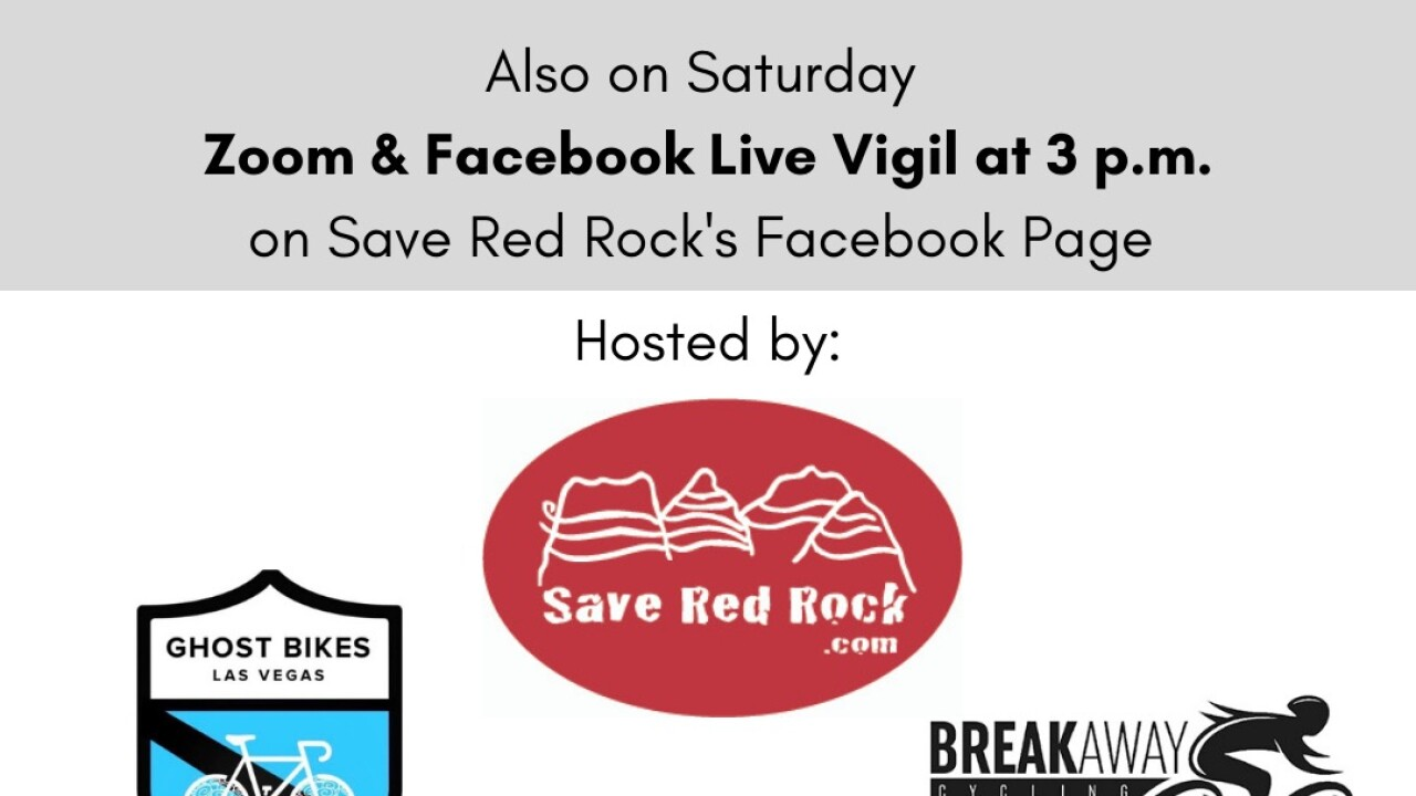 Photos provided by organizers for Saturday's planned vigil to remember 5 cyclists killed south of Las Vegas