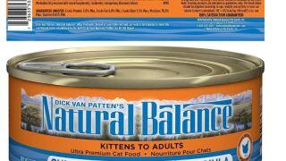 Natural Balance cat food recalled