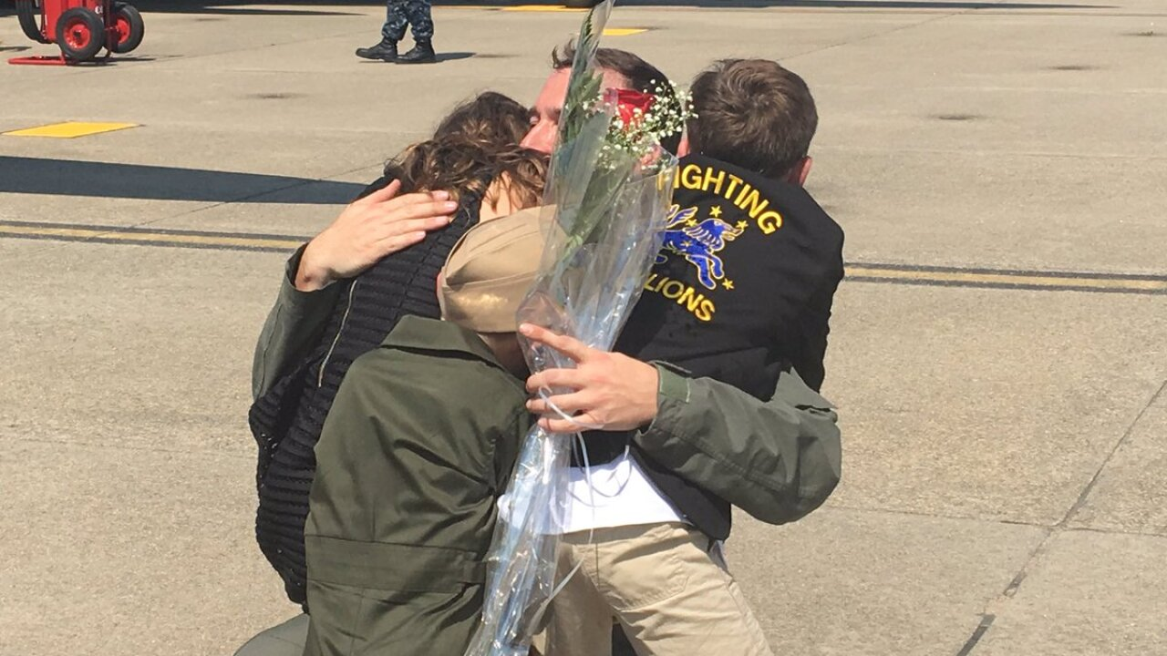 Watch: Squadrons from Carrier Air Wing 8 return to Naval Air StationOceana