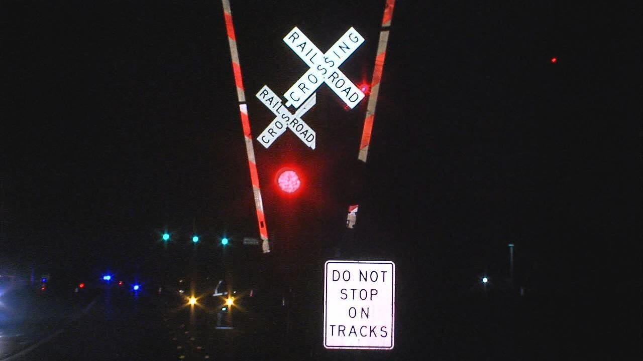 Killeen street racer loses control, damages railroad signal