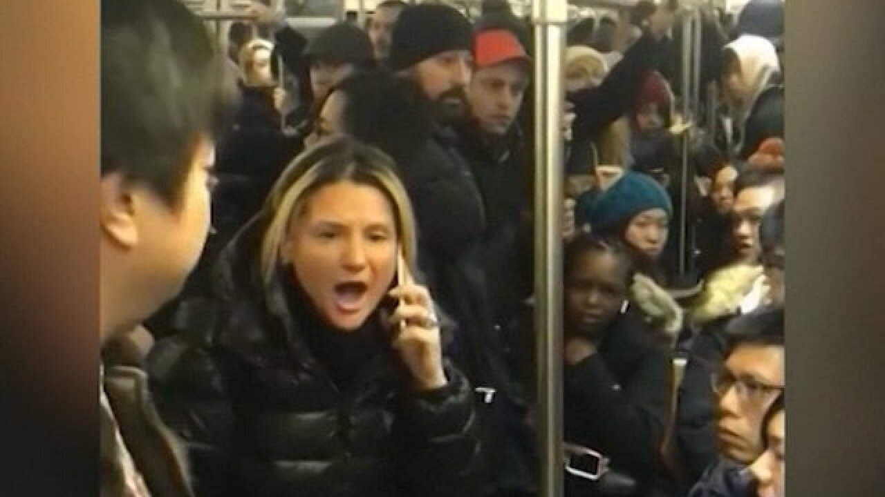Woman arrested after racist tirade in NYC subway