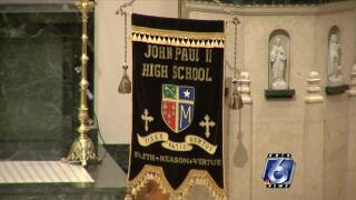 John Paul II graduation held with social distancing in place