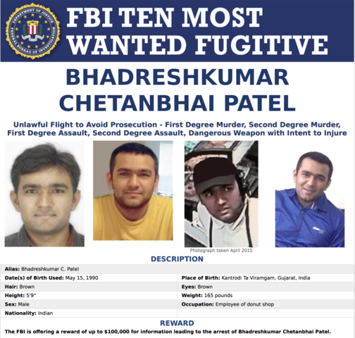 FBI's Most Wanted: 3 of the 10 most wanted have Arizona ties