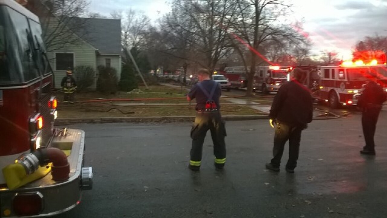 Dog injured from house fire in downtown Boise