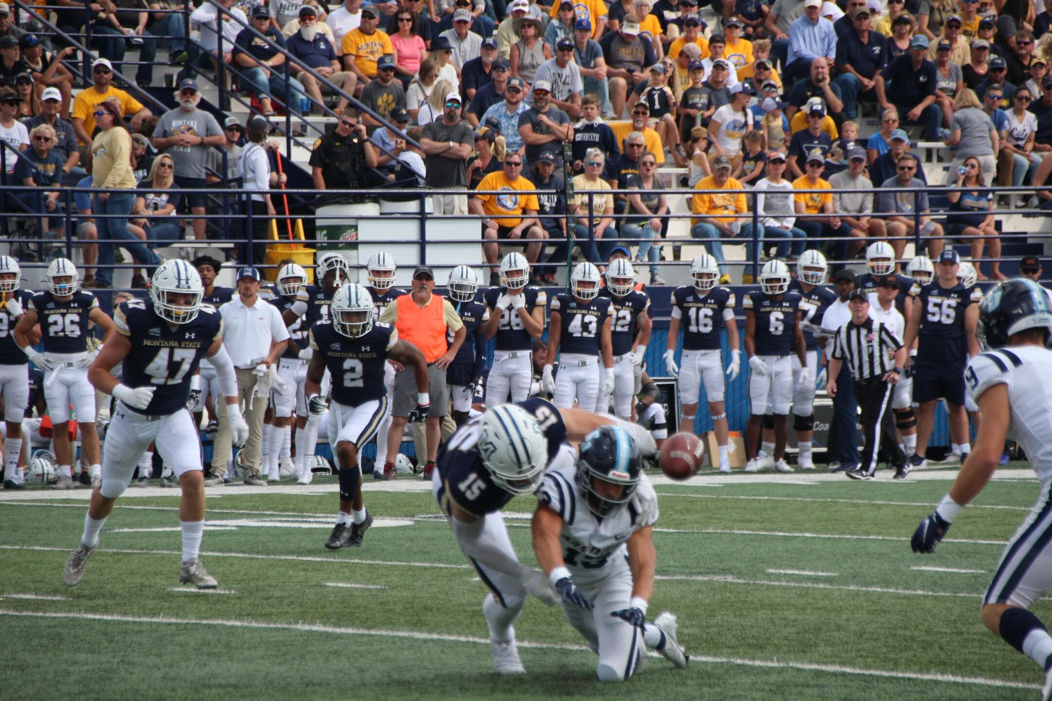 MSU LB Troy Andersen breaks up a pass