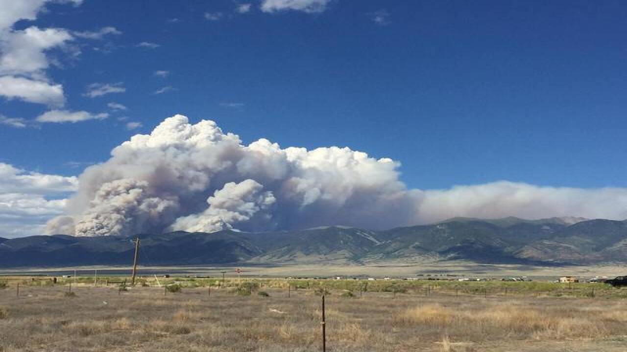 Hayden Pass Fire in Coaldale now at 5,000 acres