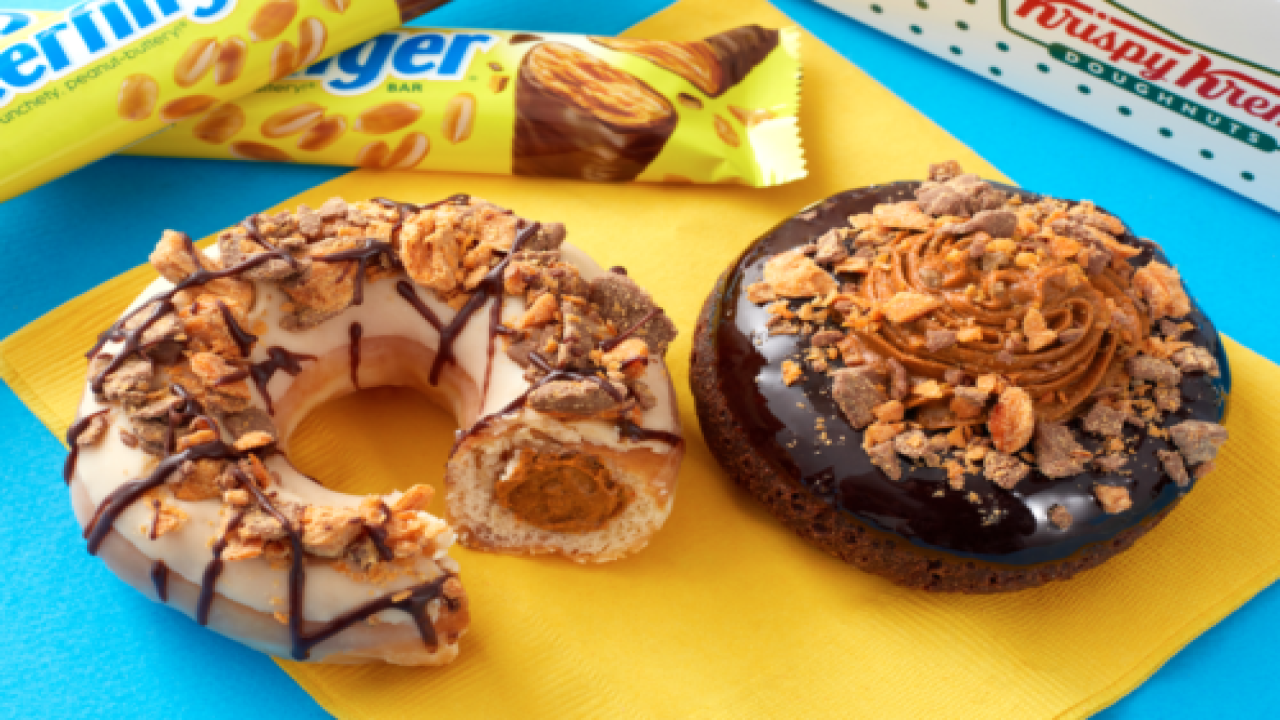 Krispy Kreme Has 2 New Butterfinger Doughnuts