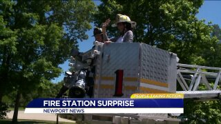 Fire station surprise for People Taking Action winner!