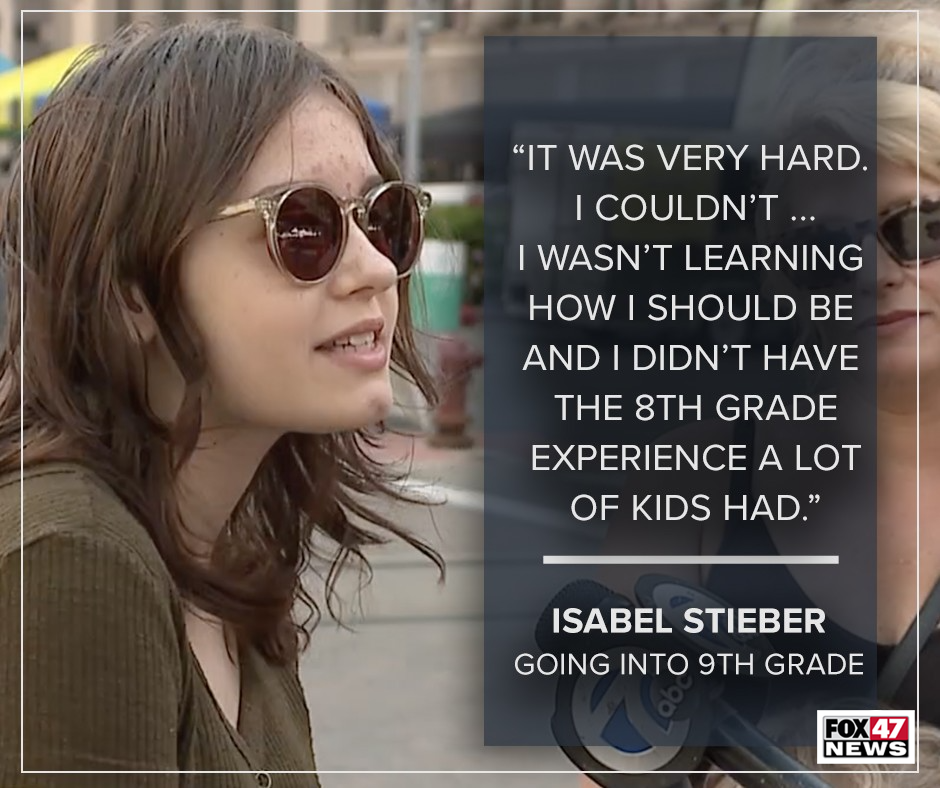Isabel Stieber, 14, is heading to 9th grade at Grosse Pointe South