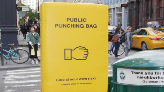 This City Now Has 'Public Punching Bags' For Stressed-out Residents