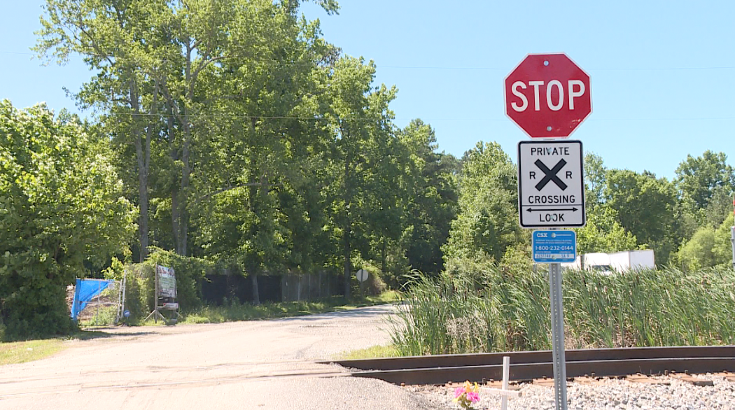 Photos: Stop signs added to railroad crossing where Chesapeake woman died