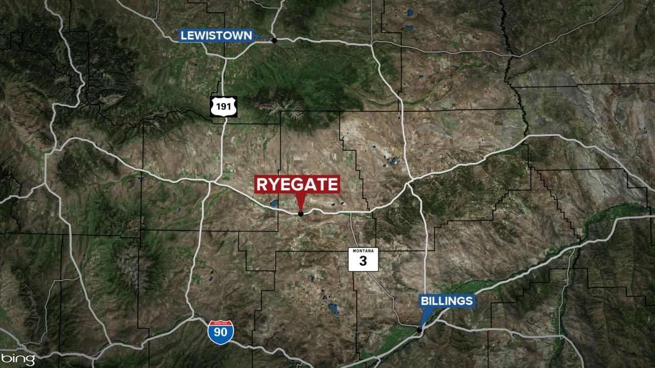 Ryegate Montana map