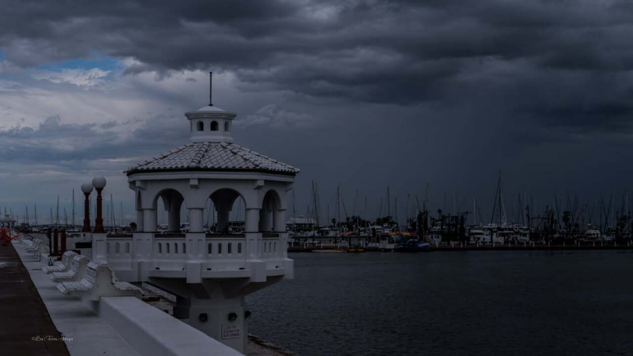 Storm Clouds Near Corpus Christi Shoreline - Photo By: FB Coastal Bend Weather Watcher Lisa Mejia Torres