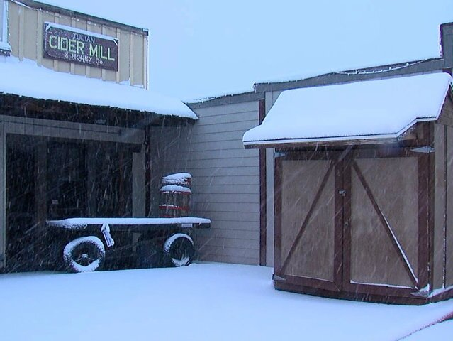 IMAGES: Snow falls in San Diego's mountains