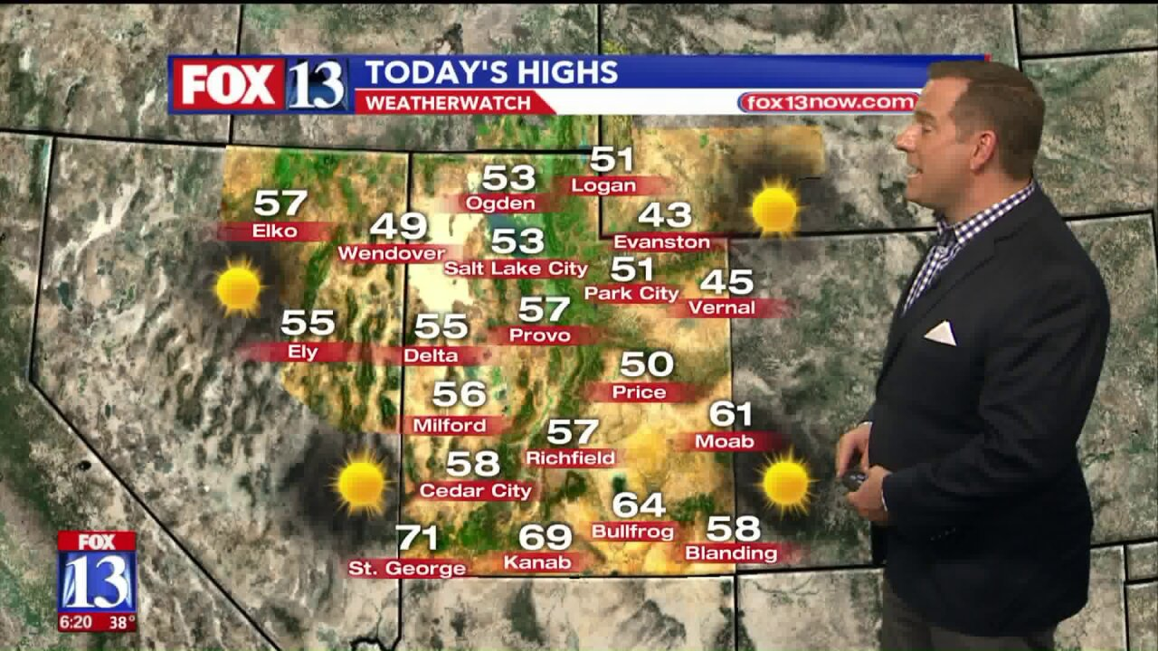 Most Utahns can expect sunny weather for Veterans Day