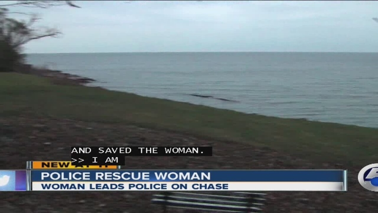 VIDEO: Police save woman who drove into lake