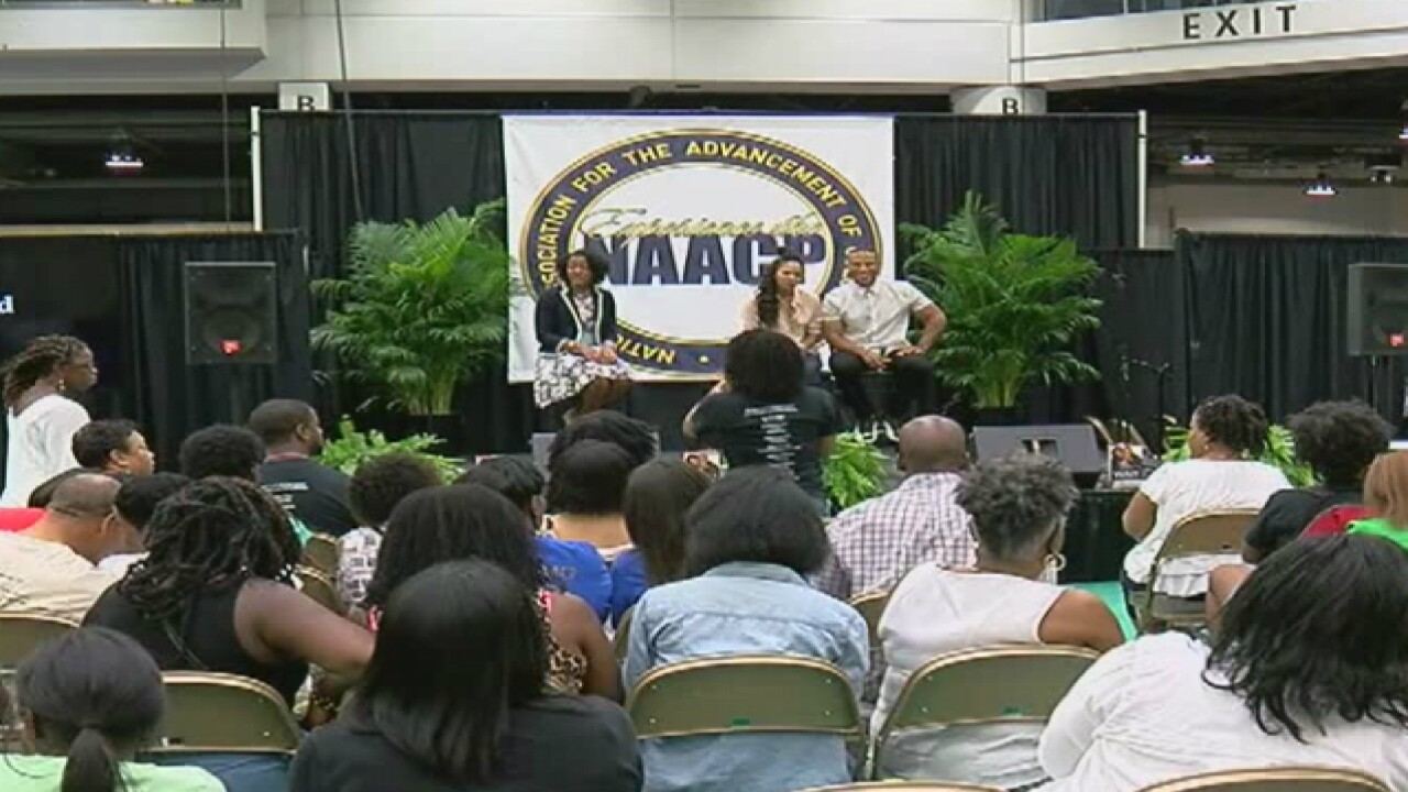 Hillary Clinton attends NAACP conference