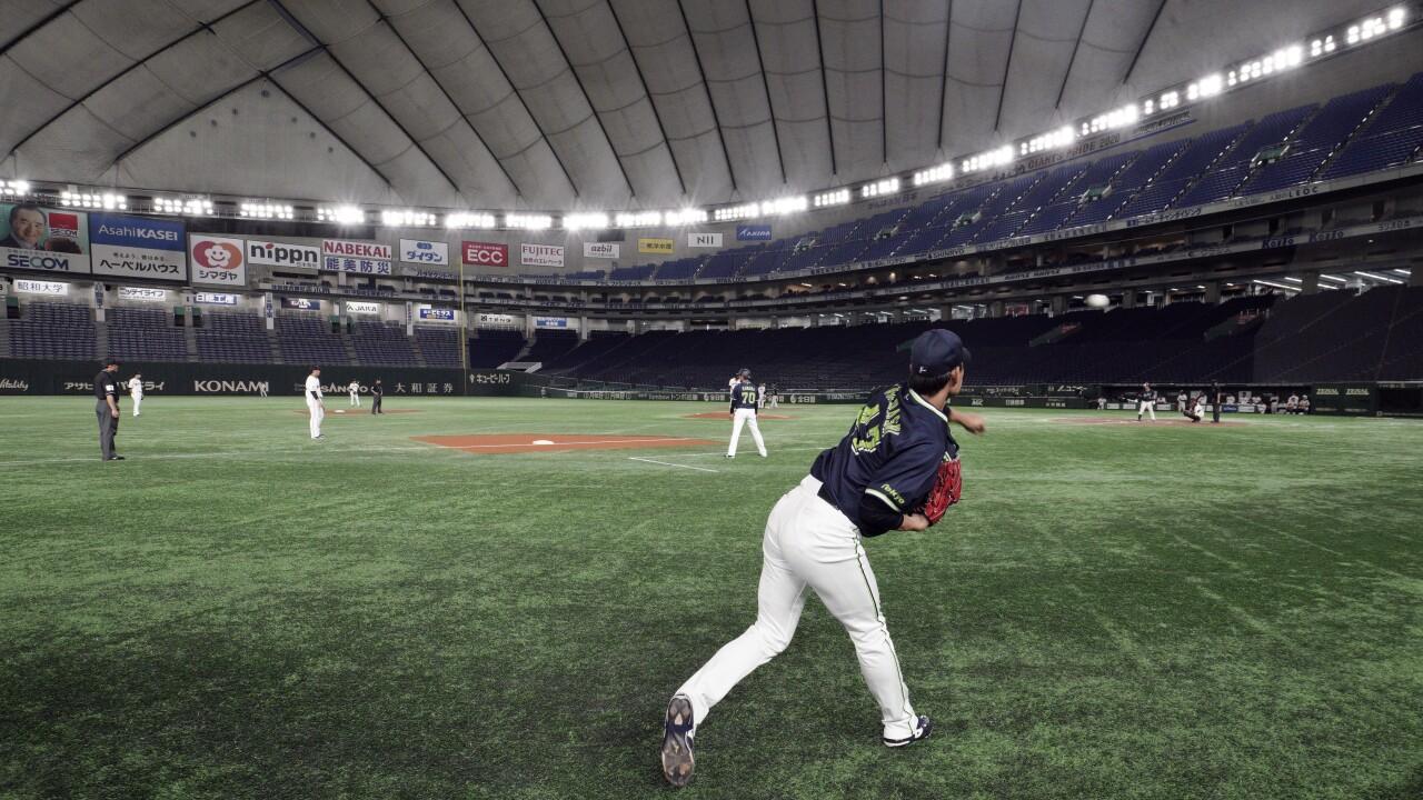 Virus Outbreak Japan Baseball
