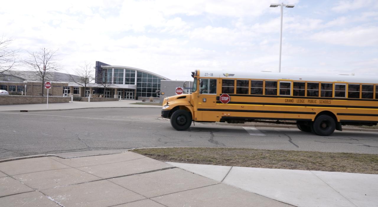 Bus at Grand Ledge High School