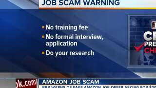 Watch out for fake Amazon job offer
