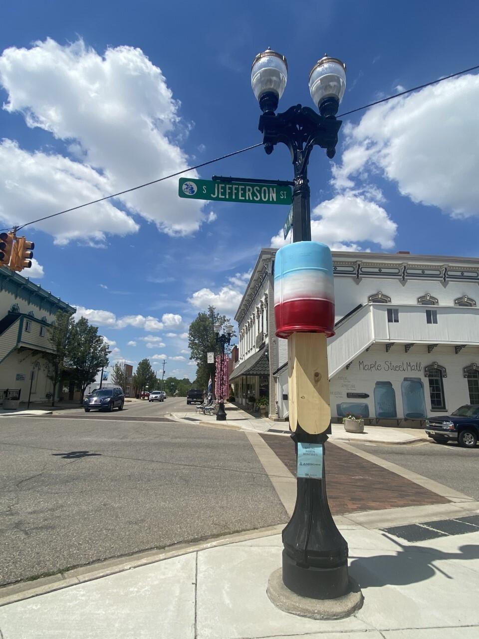 A light pole or a summer treat?